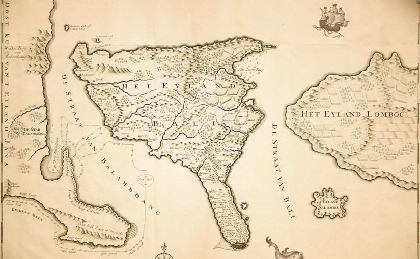 Carte ancienne Bali Antique Map