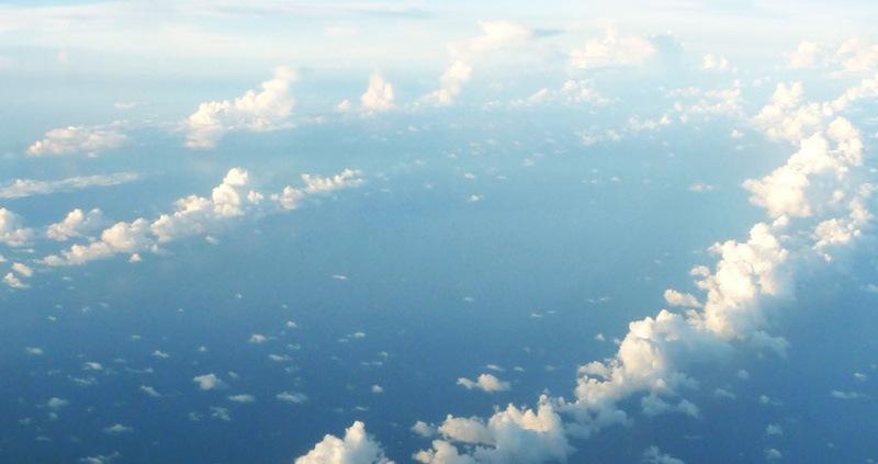 Photo aérienne au dessus de l'Asie