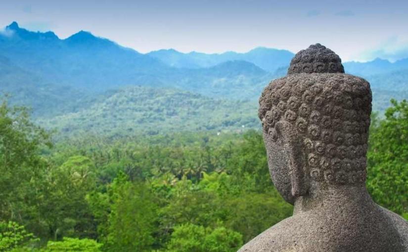 Statue à Borobudur