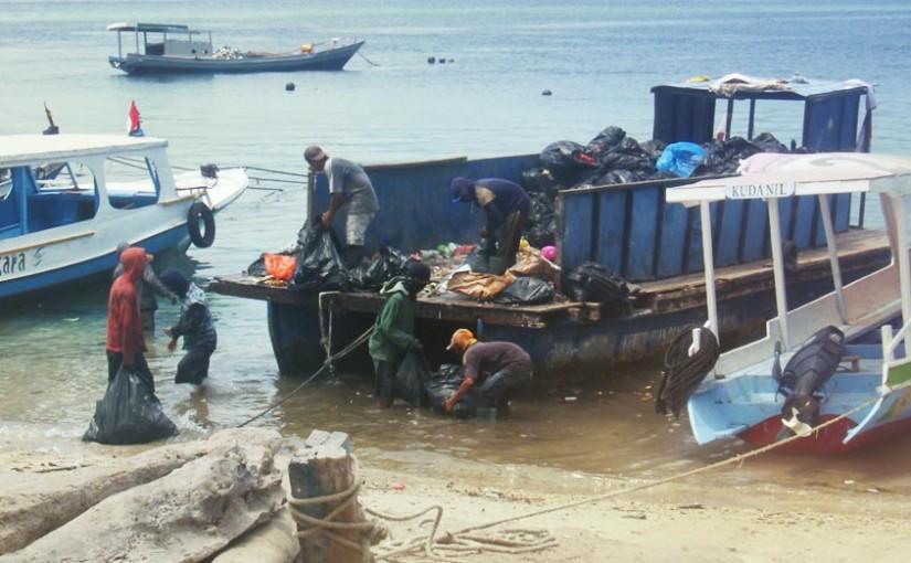 Le ramassage des ordures à Bali