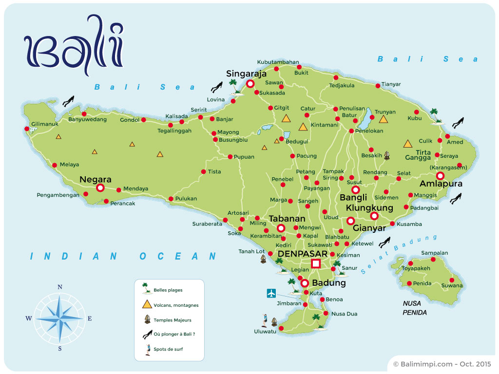 Carte Bali Et Gili.Atlas Des Voyages Cartes Et Plans De Bali Gili Lombok Flores