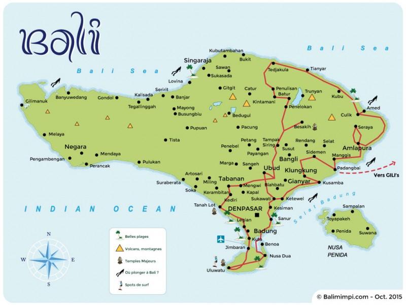 Itinéraire à Bali 2015