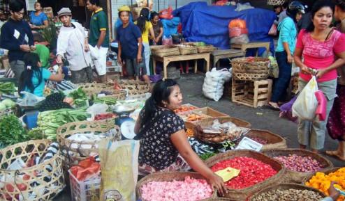 Marché du matin de Ubud à Bali